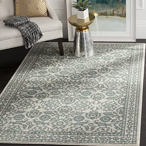 Safavieh Evoke Collection EVK216D Transitional Oriental Area Rug, 4 x 6 , Ivory Grey