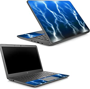 MightySkins Skin Compatible with HP Chromebook 14 G5 - Lightning Storm   Protective, Durable, and Unique Vinyl Decal wrap Cover   Easy to Apply, Remove, and Change Styles   Made in The USA