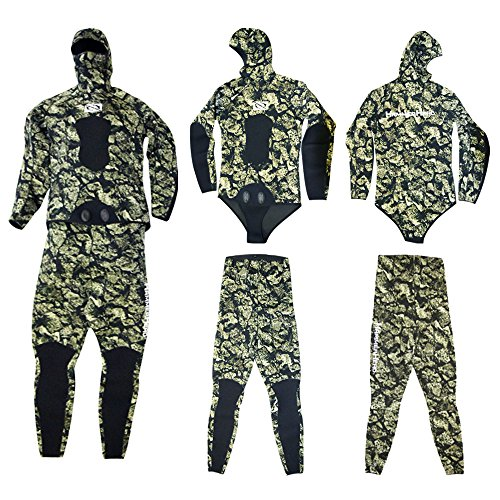 3mm, Open Cell, Wetsuit Volcano 3D Cammo, Hammerhead (2X-Large) (Open 3mm Wetsuit Cell)