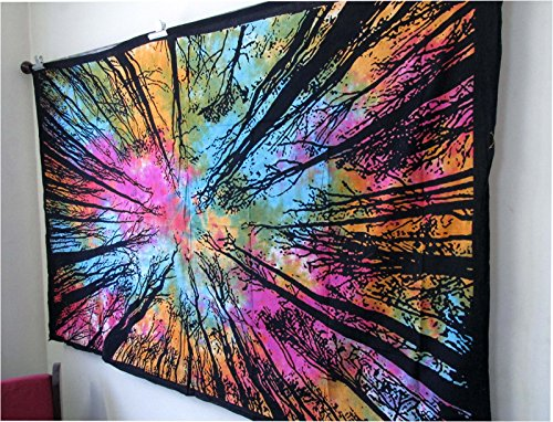 Exclusive Tie Dye Locust Trees From Below Tapestry Urban Tapestry By