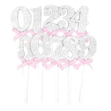 Spaufu 10 adornos para tartas con lazo, para decoración de ...