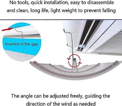 Installazione Semplice Vento Guida Microporoso Deflettore DellAria Condizionata Per LAria Condizionata Centrale un pezzo ABS Leggero E Flessibile Impedire AllAria Di Soffiare Dritta