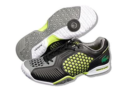 0f13d28aaa1 Lacoste Repel 2T SPM SYN Mens Tennis Shoes Black Lime