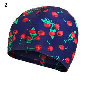 91cdfc9c264 hAohAnwuyg Swimming Cap, Elephant Geometric Cherry Print Fashion Cloth  Swimming Cap Men Women Swim Hat - 2#, Aquatic Fitness Equipment - Amazon  Canada