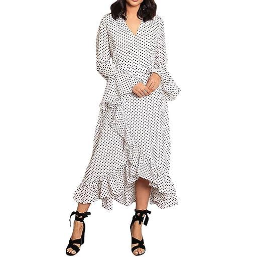 ღLILICATღ Mujer Vestido Elegante Casual Playa Bohemio Dress ...