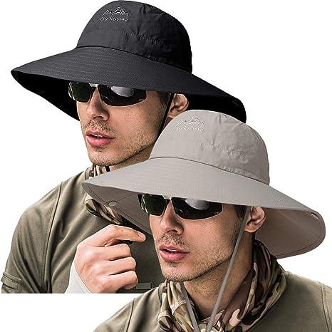 5a5b671567f44 ZOORON Fishing Bucket Hat for Men,Waterproof Wide Brim Boonie Sun Hat UV  Protection (