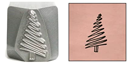 Amazon Com Christmas Tree Metal Design Stamp 11mm Scribble