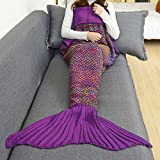 Znzbzt blanket thick winter quilt single dorm students who fish tails blankets bedding Creative gifts ,180cmx90cm,m06 purple Pink