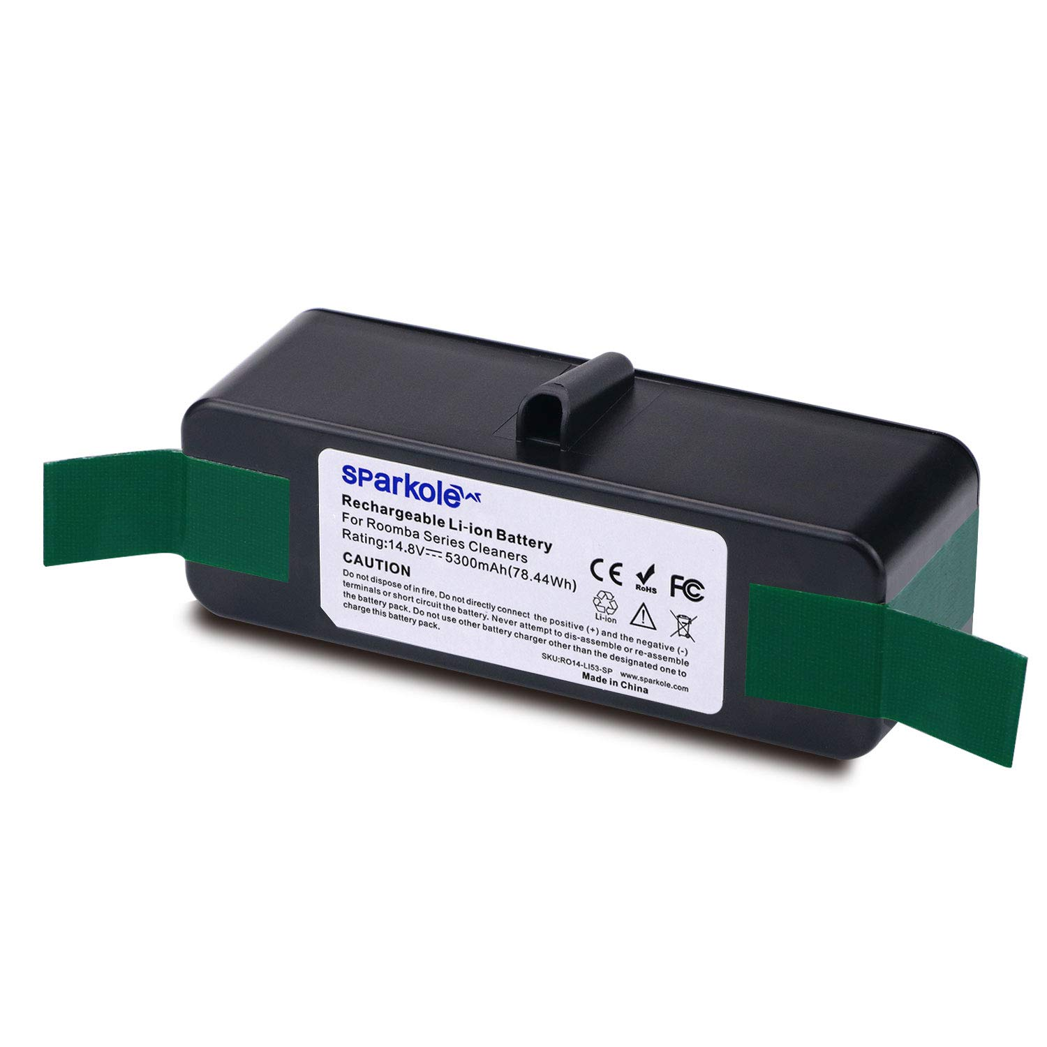 SPARKOLE 5300mAh Extended Life Lithium Ion Replacement Battery Compatible with iRobot Roomba 500,600,700,800 Series 500 510 530 531 581 585 595 600 620 630 650 655 675 700 760 770 780 800 870 880 890 by SPARKOLE