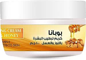 Bobana Almond and Honey Moisturizing Cream, 100 gm