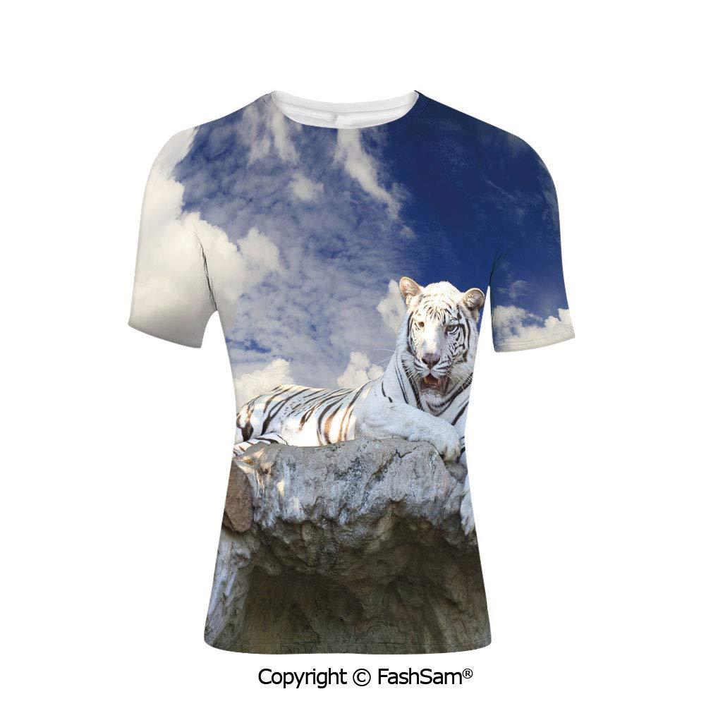 T Shirts Bench on Flowing River with Lightpost Crescent Moon Lavender Trees and