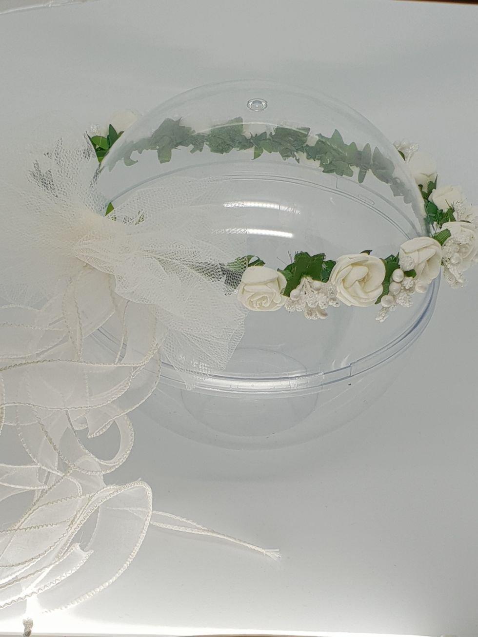 Diadema-Corona- Guirnalda de flores para el cabello de niñ as de Primera Comuniò n y Dama de honor♥ Hecho a mano♥