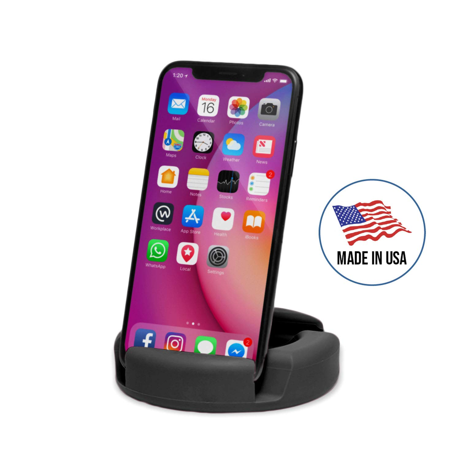 GoDonut Original Universal Smartphone and Tablet Stand, Compatible with Android iPad iPhone Samsung Galaxy LG Pixel | Multi-Angled to View on Tablet Kindle Fire Smartphone XS Max XR 8+ 8 7+ 7 6 5 by GoDonut