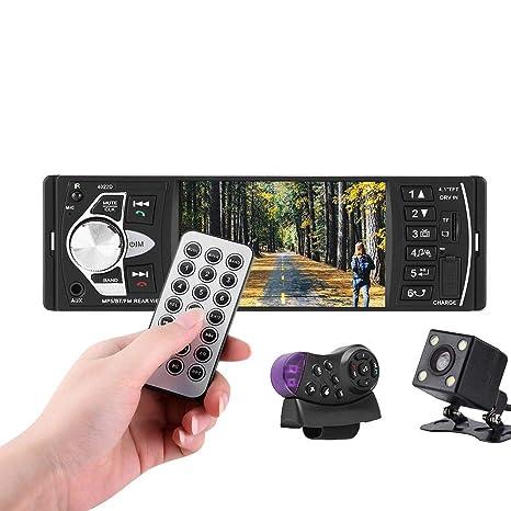 Reproductor MP5 para coche, 4.1 pulgadas HD Bluetooth Reproductor de video MP5 para automóvil Reproductor