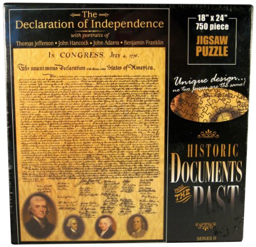 American Documents The Declaration of Independence Jigsaw Puzzle, (Declaration Of Independence Portrait)