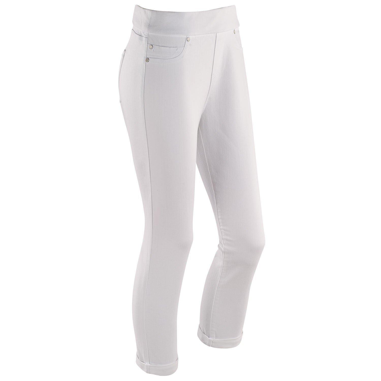Liverpool Jeans Company Women's Pull-On Capri Length Denim Pants - Size 8