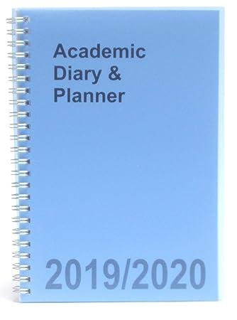 Agenda académica azul tamaño A5 2019-2020 en espiral de ...