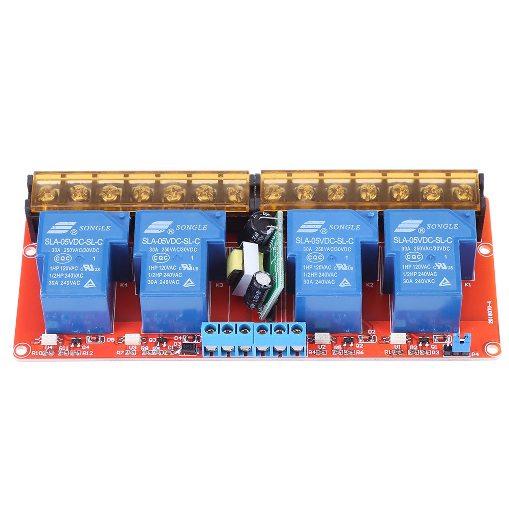 Module de Relais 4 Canaux Electrom/écanique DC5V 250V 30A Pour Arduino
