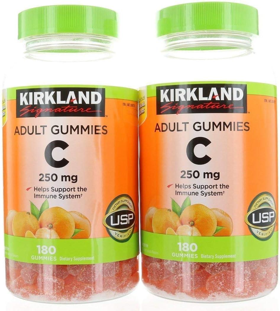 Amazon Com Kirkland Signature Vitamin C 250 Mg 360 Adult Gummies Health Personal Care