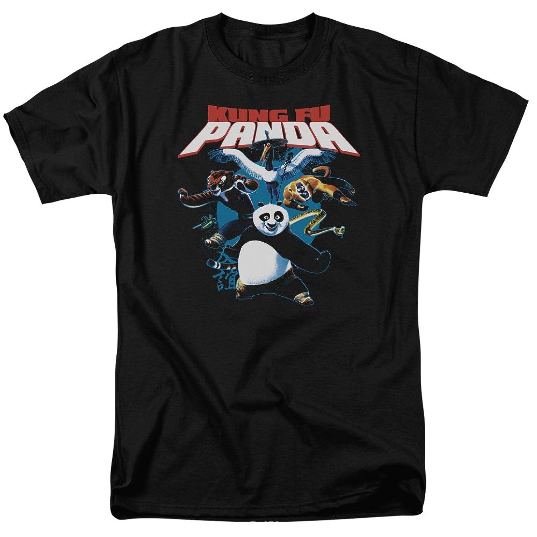 Kung Fu Panda DreamWorks Animated Family Movie Warriors Group Adult T-Shirt
