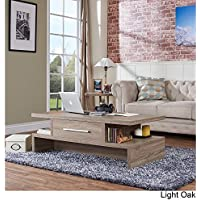 Tepekiie Two-side Open Coffee Table Light Oak