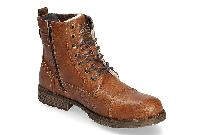 Boots Stiefel Mustang Gefüttert Herren Schnürstiefelette uJ13TcKlF5