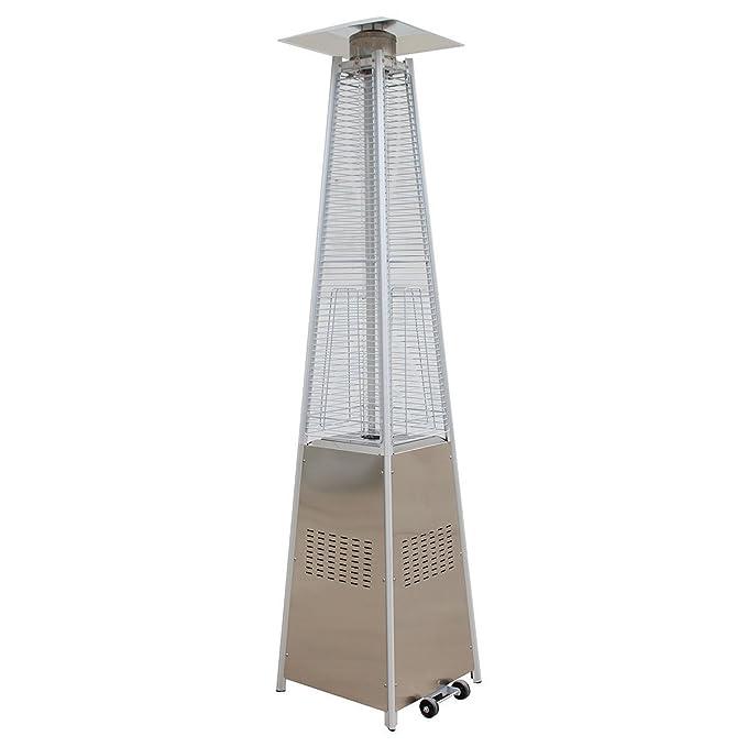 Agoora Estufa Gas Exterior para Terrazas con diseño Pirámide de 13kw con Regulador y Manguera: Amazon.es: Deportes y aire libre