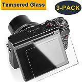 CAVN 3 Pcs Glass Screen Protector for Canon G7X Mark II G9X G7X G5X Anti-scratch Waterproof HD-Clear 9H Tempered Glass Screen Protector for G9X Mark II G7X G7XII G5X DSLR Camera