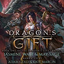 Dragon's Gift: The Dragon's Gift Trilogy, Book 1 Audiobook by Jasmine Walt, May Sage Narrated by Adam Gold, Kate Marcin