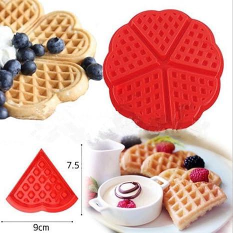 zomup gofres con forma de corazón bandeja para tartas pan molde de silicona antiadherente pan galletas