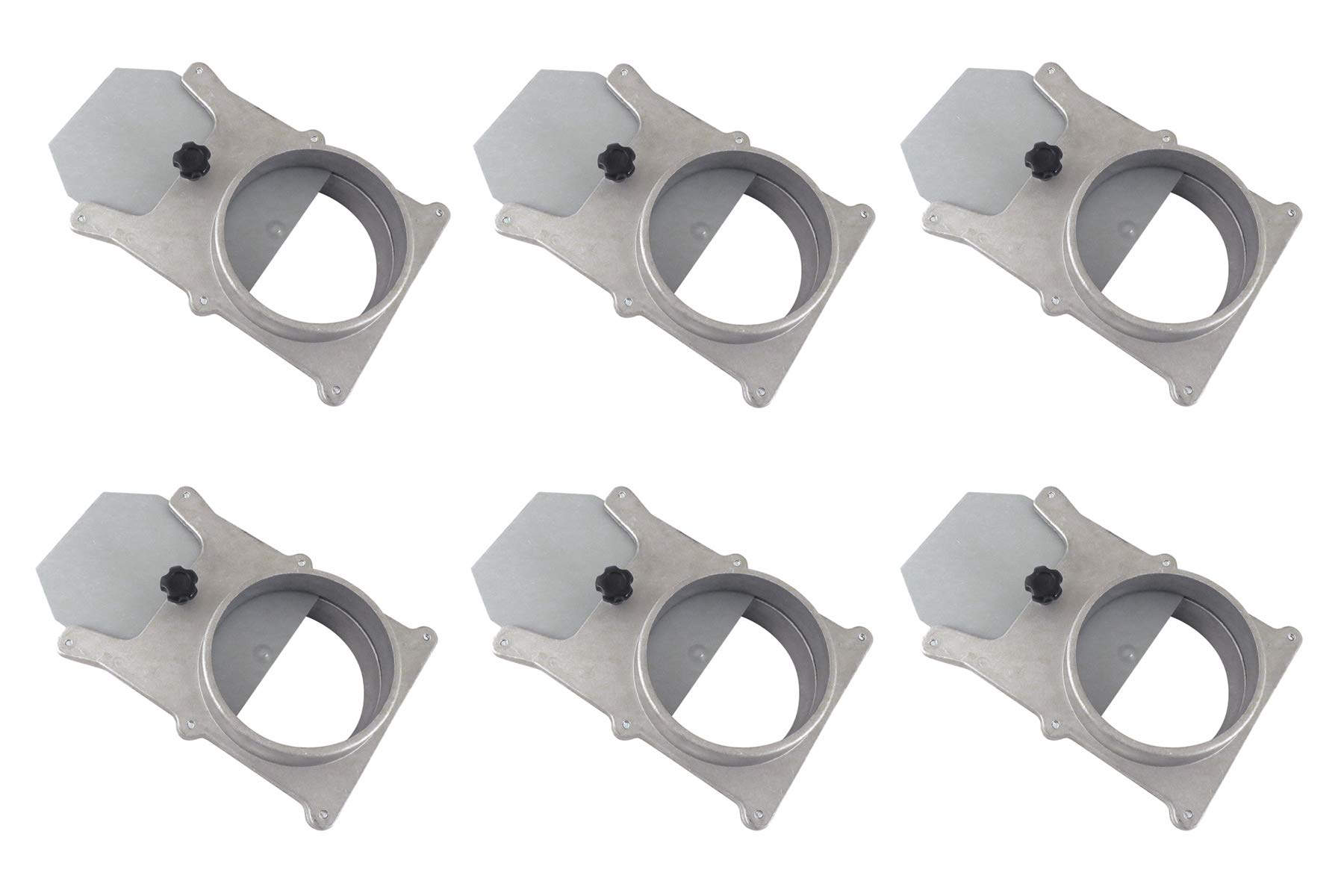 Taytools 465388 Set of 6 each 4'' OD Blast Gates Self Cleaning No Clog Aluminum for Dust Collection System by Taytools