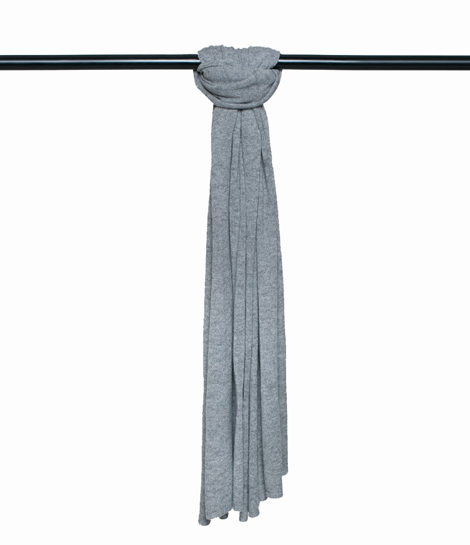 Super Soft Oversized 100% Cashmere Travel Blanket Scarf Wrap - Heather Grey by Anna Kristine (Image #3)