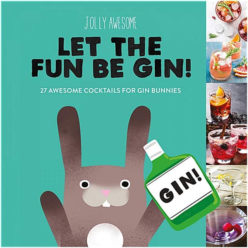 Véritable Jolly Impressionnant Laissez le plaisir être Gin livre cadeau Gin Cocktail Recettes Ice House Books