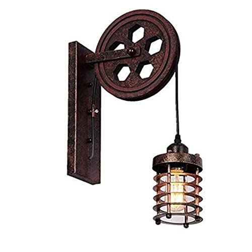 The Rustic Sailor Pulley Pendant Light Wooden Pulley By: Nautical Lighting Fixtures: Amazon.com