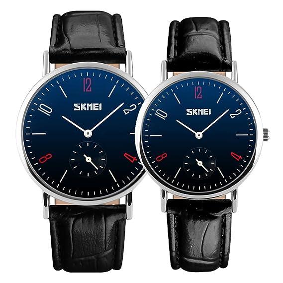 esfera de color negro relojes clásicos banda de cuero de cuarzo de reloj del negocio ocasional