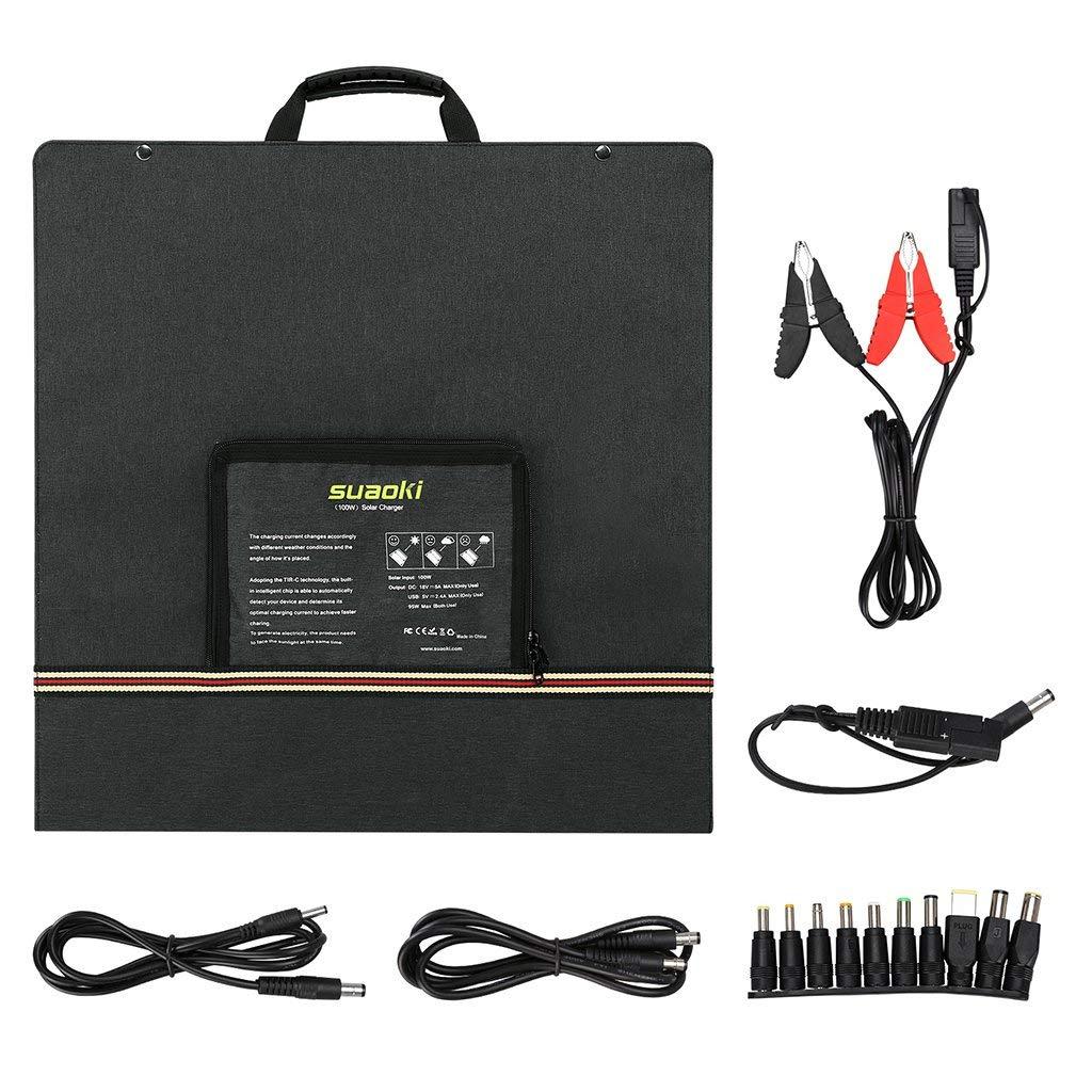 SUAOKI - Cargador Solar para portátil, batería, Banco de Red ...