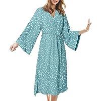 INSTO Womens Homewear Sleepwear Zomer Casual Lange Mouwen Badjas Pyjama's