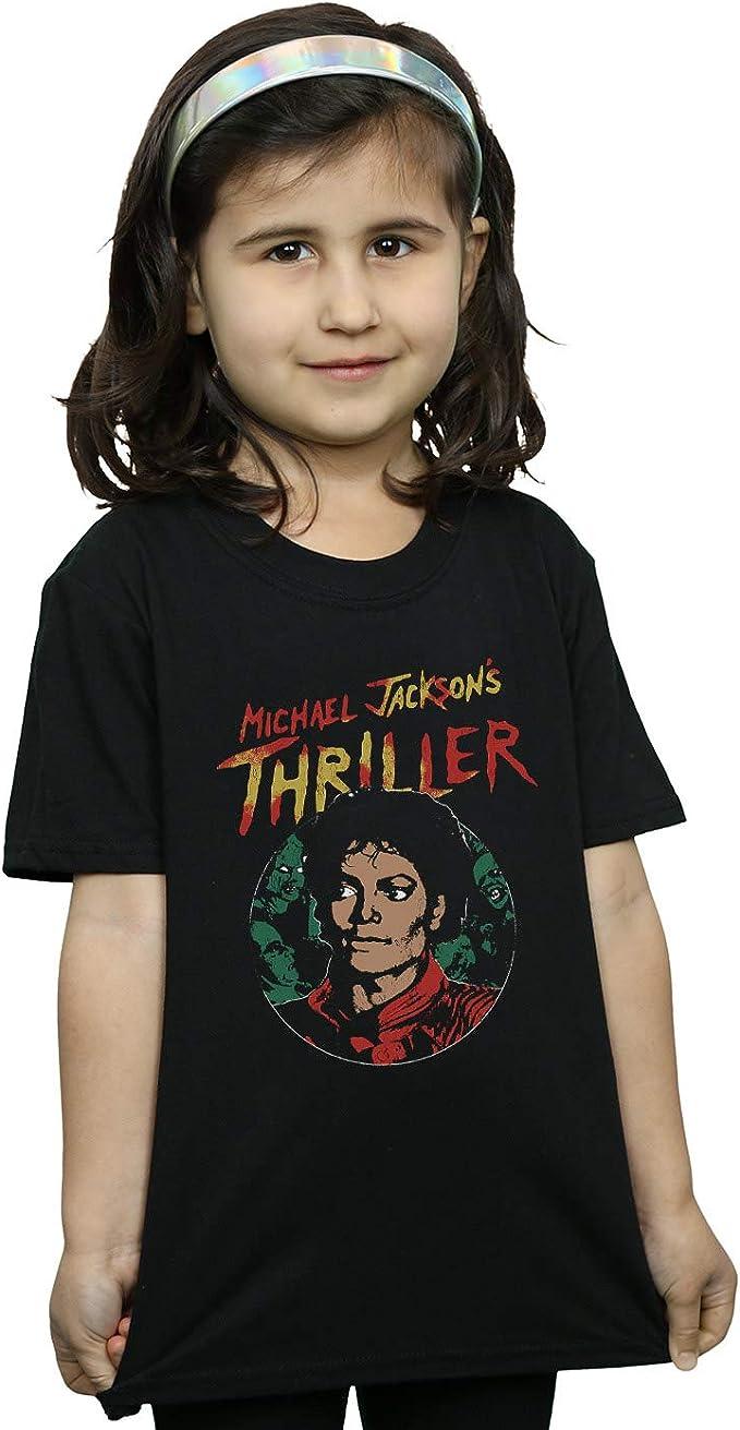 Michael Jackson Niñas Collage Zombies Camiseta: Amazon.es: Ropa y accesorios