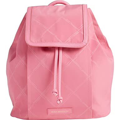 3207fa37ef Image Unavailable. Image not available for. Color  Vera Bradley Women s Preppy  Poly Backpack Blossom Pink Backpack