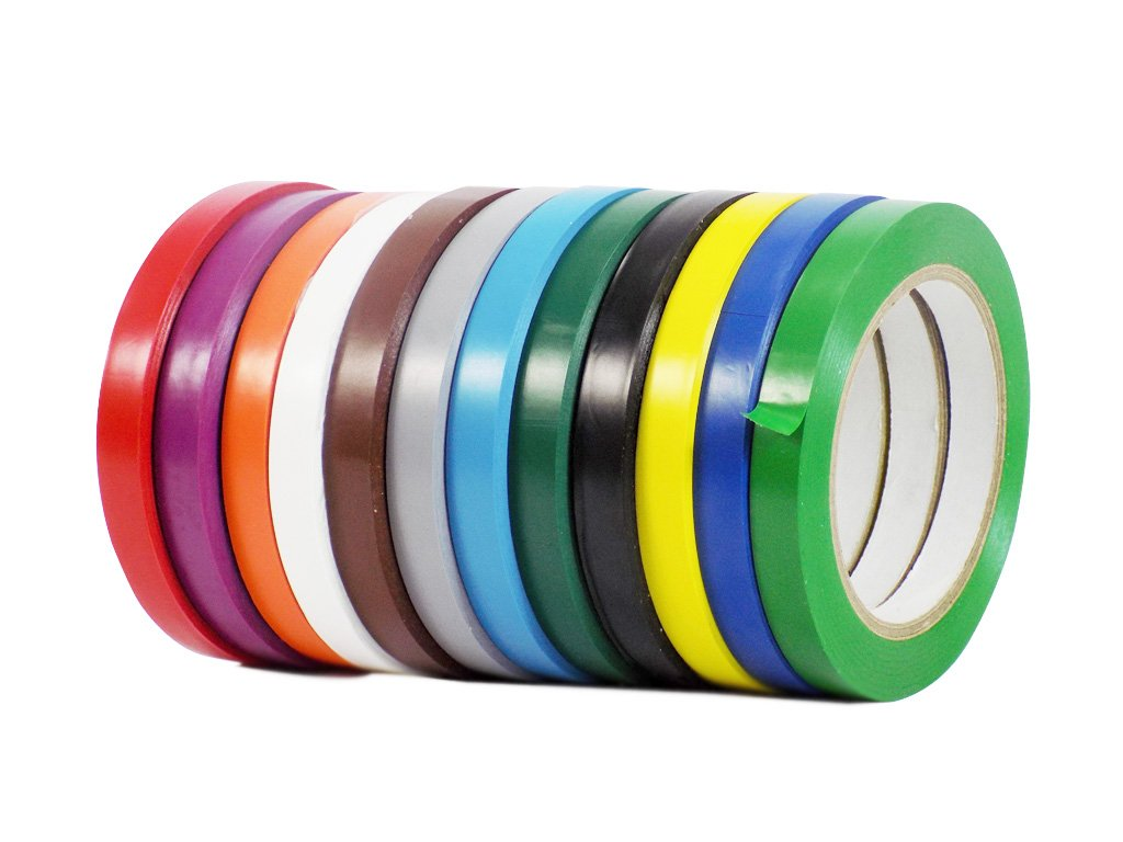 WOD CVT-536 Rainbow Pack Vinyl Pinstriping Dance Floor Tape, Safety Marking Floor Splicing Tape (Also Available in Multiple Sizes & Colors): 3/4 in. wide x 36 yds. (Pack of 12)