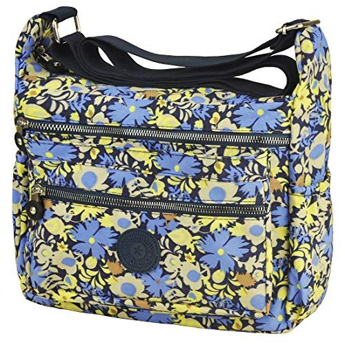 Multi Pocket Crossbody Bag Lightweight Travel Purse Volganik Rock Nylon Waterproof Shoulder Handbag by Volganik Rock