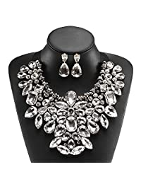 Holylove 13 Colors Costume Statement Necklace for Women Jewelry Fashion Necklace 1 Set with Gift Box