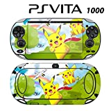 Decorative Video Game Skin Decal Cover Sticker for Sony PlayStation PS Vita (PCH-1000) - Pokemon Pikachu