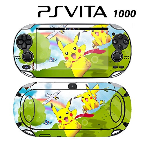 Decorative Video Game Skin Decal Cover Sticker for Sony PlayStation PS Vita (PCH-1000) - Pokemon Pikachu -  Decals Plus, PV1-PK02