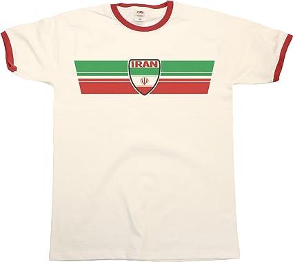 outlet store sale c213e 323c1 Buzz Shirts Mens World Cup 2018 T-Shirt Iran Retro Strip ...