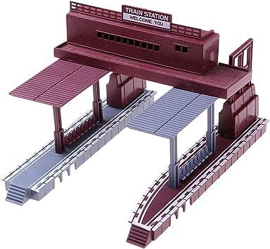Hellery Modelo de Estación de Tren de Kit de Construcción ...