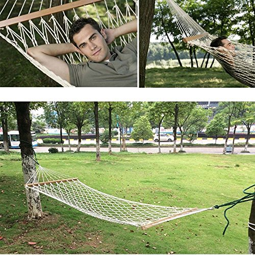 OxiQmart Outdoor Swing Hanging Camping Cotton Bed Patio Spreader Hammock
