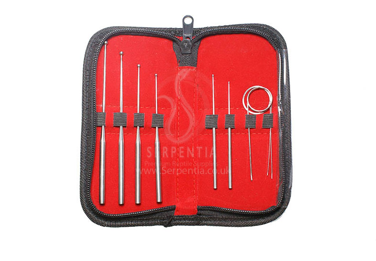Serpentia Snake Sexing Probes - 9 Piece Professional Sexing Probe Set in Zip Up Case