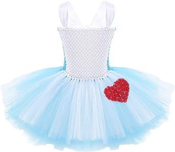 MSemis Vestido Pincesa Tutú para Niñas Disfraz Alicia Princesa ...