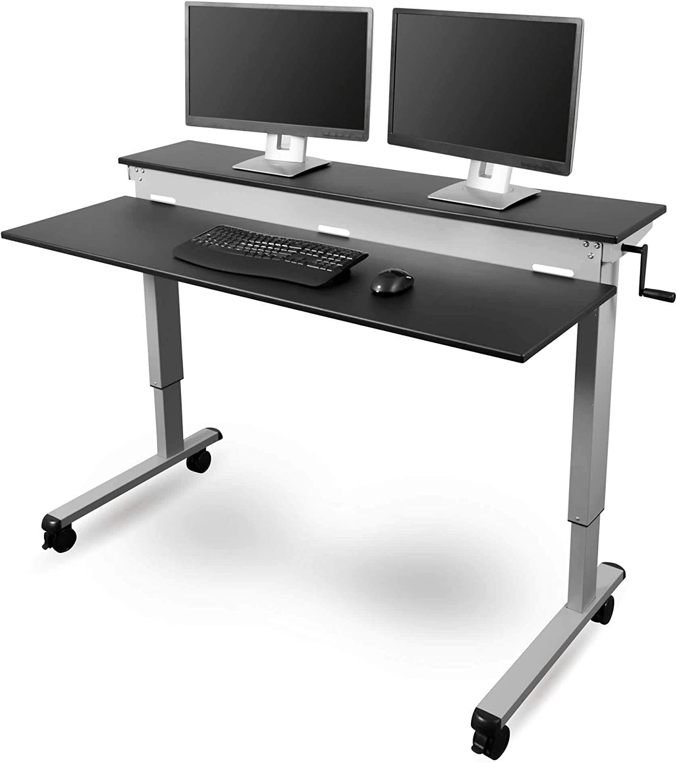 Amazon.com: Stand Up Desk Store Crank Adjustable Sit to Stand Up